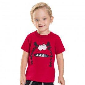 camiseta infantil masculina monster vermelho 6742 8981