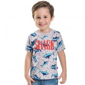 camiseta infantil masculina shark mescla claro 6743 8983