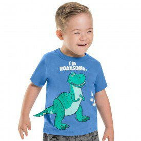 camiseta infantil masculina dino azul artico 6744 8984