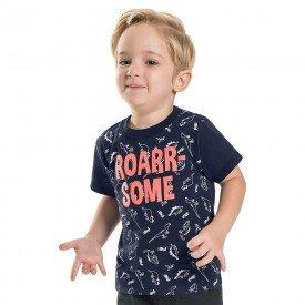 camiseta infantil masculina roar navy 6745 8985