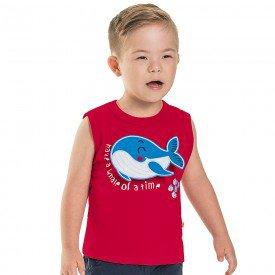 regata machao infantil masculina whale vermelho 6746 8987