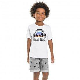 conjunto infantil masculino miami branco mescla medio 6751 8994