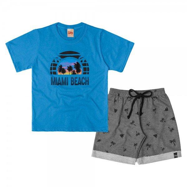 conjunto infantil masculino miami azul artico mescla escuro 6751 8996