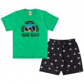 conjunto infantil masculino miami verde citrico preto 6751 8995