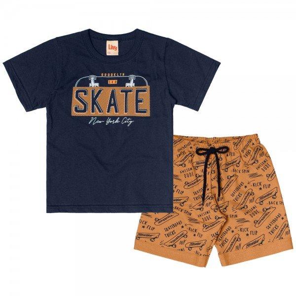 conjunto infantil masculino skate navy caramelo 6753 8998