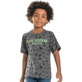 camiseta infantil masculina dino style mescla escuro 6763 9004