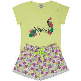 conjunto juvenil feminino tropical lemonade pink 4545 9089