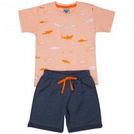 conjunto infantil masculino shark concha chumbo 4564 9131