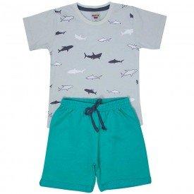 conjunto infantil masculino shark cinza storm verde ceramic 4564 9132
