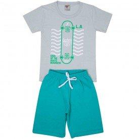 conjunto infantil masculino camiseta e bermuda moletinho storm ceramic 4583 9157