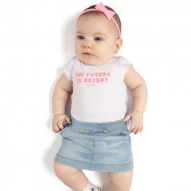 conjunto bebe menina future branco jeans confort claro 0085 9294