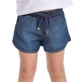 short infantil feminino jeans chambray medio 1238 2237 9310