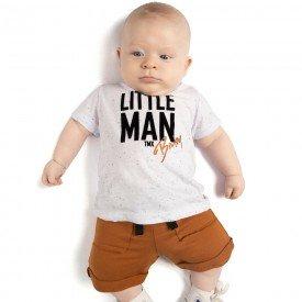 conjunto bebe menino little man branco caramelo 4081 9317