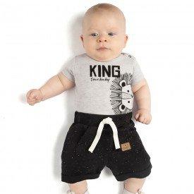 conjunto bebe menino king mescla light preto 4087 9324
