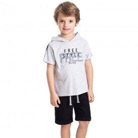 conjunto infantil masculino free style mescla light preto 5325 9330