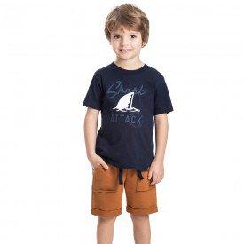conjunto infantil masculino shark marinho caramelo 5327 9333