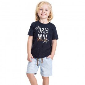 conjunto infantil masculino original marinho jeans light 5330 9335