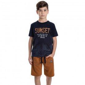 conjunto infantil masculino sunset marinho caramelo 6324 9351