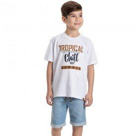 conjunto infantil masculino tropical branco jeans confort 6325 9352