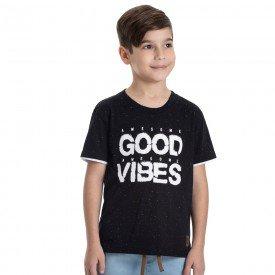 camiseta infantil masculina good vibes preta 6333 9358