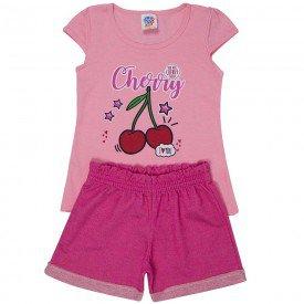 conjunto infantil feminino cherry cristal rouse pink 497 9212