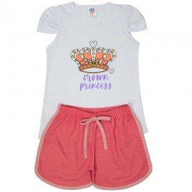 conjunto juvenil feminino princess branco papoula 503