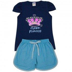 conjunto juvenil feminino princess marinho jeans azul 503 9226 2