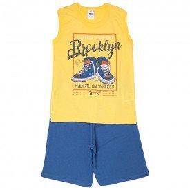 conjunto juvenil masculino brooklyn amarelo azul jeans 522 9271