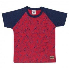camiseta infantil masculina dinossauros vermelho 4572 9144
