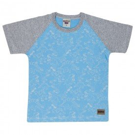 camiseta infantil masculina dinossauros azul 4572 9145
