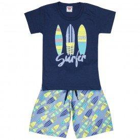 conjunto infantil masculino surfer marinho jeans 4581 9154