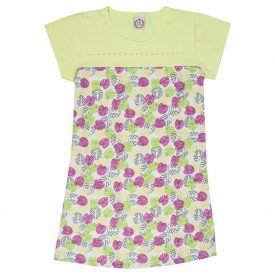 vestido juvenil feminino tropical lemonade pink 4546 9092