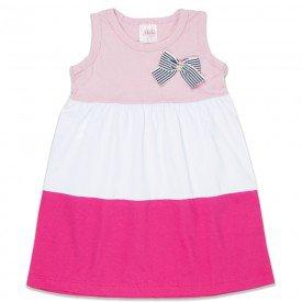 vestido infantil feminino rosa po branco pink 1259 8649