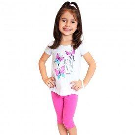conjunto infantil feminino beautiful branco pink kw103 9390