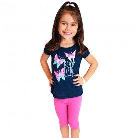 conjunto infantil feminino beautiful marinho pink kw103 9389