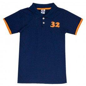 camisa polo juvenil masculina marinho 4597 9178