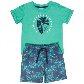 conjunto bebe menino surf verde coqueiro 4084 9321