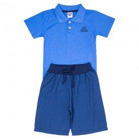 conjunto infantil masculino polo azul palacio e bermuda sarja jeans marinho 4576 9153
