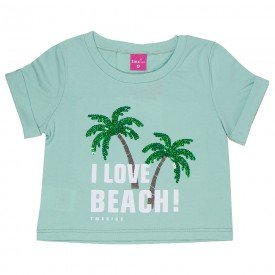 camiseta cropped infantil feminino beach verde cha 2236 9316
