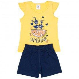 conjunto infantil feminino sunshine amarelo marinho 493 9206