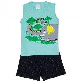 conjunto infantil masculino jungle verde esmeralda preto 512 9246
