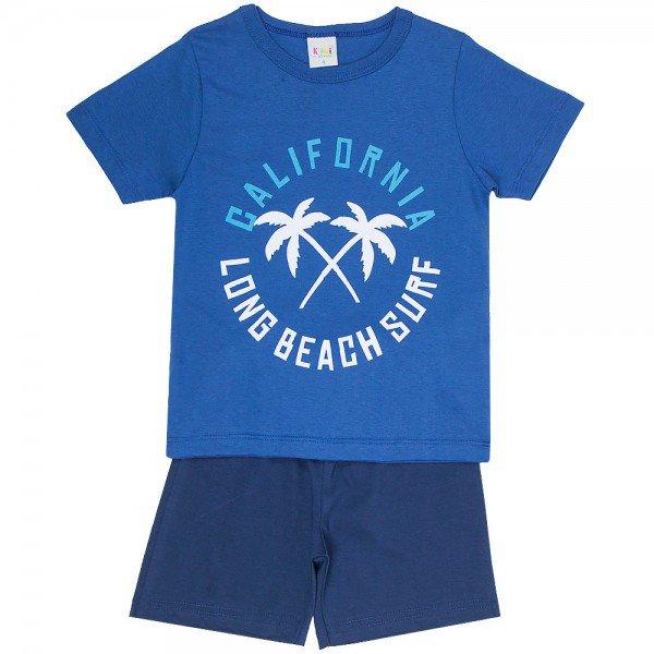 pijama infantil masculino california indigo marinho kw703 9417