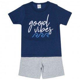 pijama infantil masculino good vibes marinho mescla kw702 9415