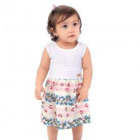 vestido bebe menina floral natural verde 161052 9430