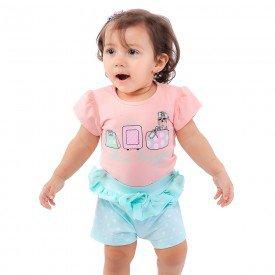conjunto bebe menina voyage rosa light verde agua 161057 9432