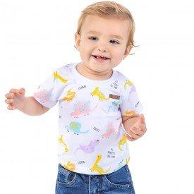camiseta bebe menino dinossauros branca 161001 9450