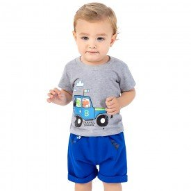 conjunto bebe menino travel mescla royal 161006 9459