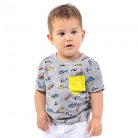 camiseta infantil masculina cars mescla 161013 9470