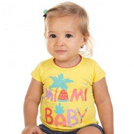 blusa bebe menina miami baby amarelo 11609 9518