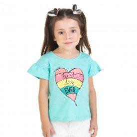 blusa infantil feminina verde agua 11628 9529